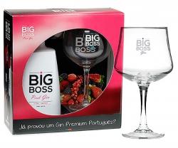 Pack Gin Big Boss Pink + Copo com caixa